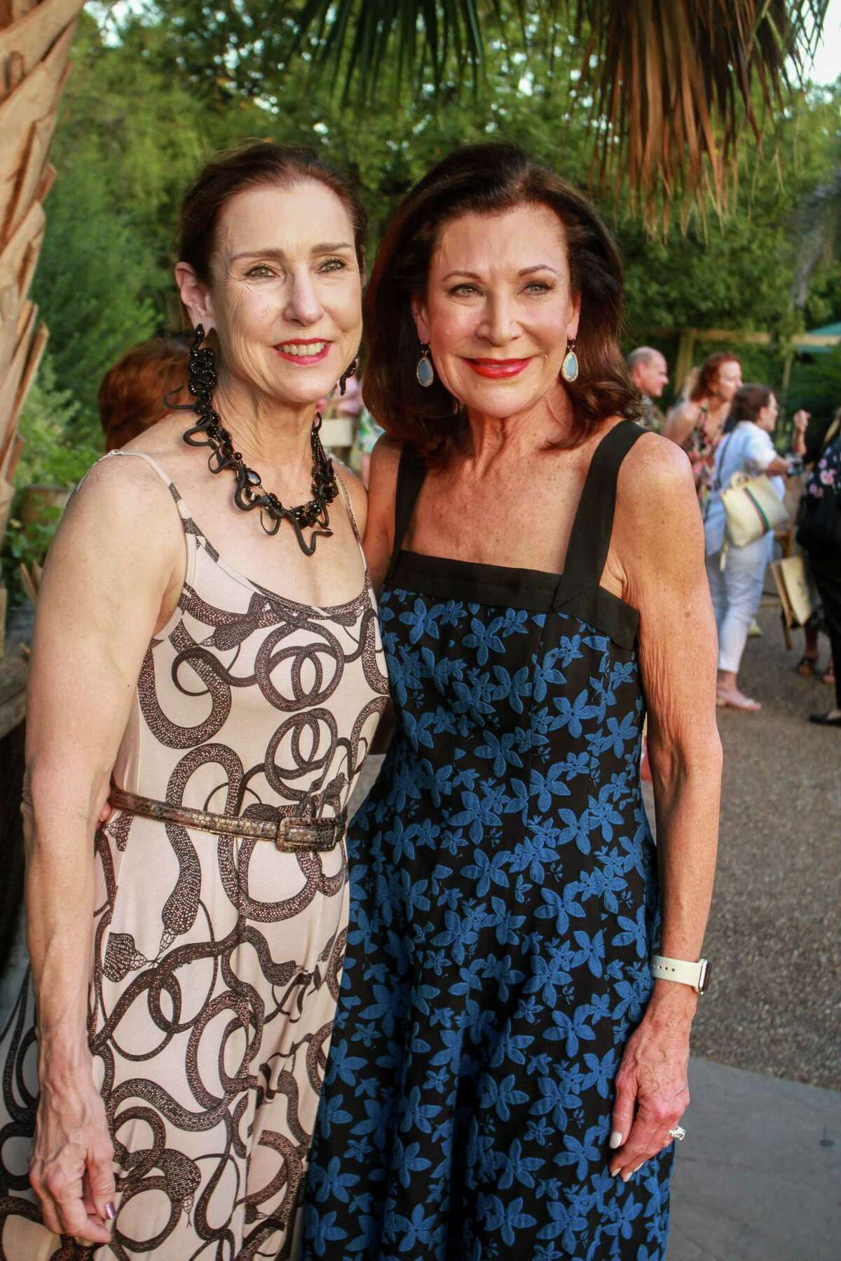Mary Maxey, left, and Betty Hrncir at the Houston Zoo's 12th annual Wildlife Conservation Gala on October 10, 2019.