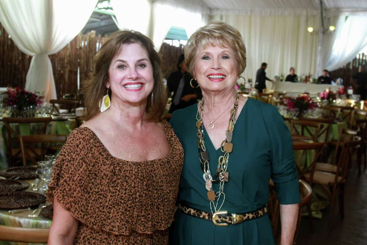 Co-chairs Renee Renfroe, left, and Ginger Blanton at the Houston Zoo's 12th annual Wildlife Conservation Gala on October 10, 2019.