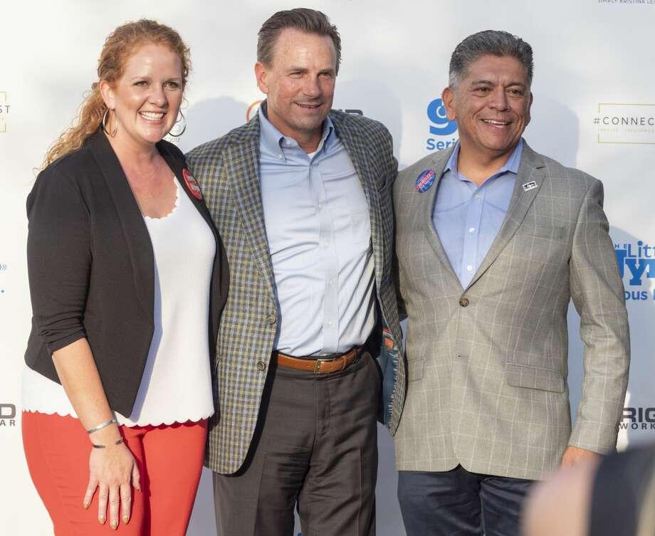 Mayoral candidates Jenny Cudd, from left, Patrick Payton and Mayor Jerry Morales. Photo: MRT File Photo
