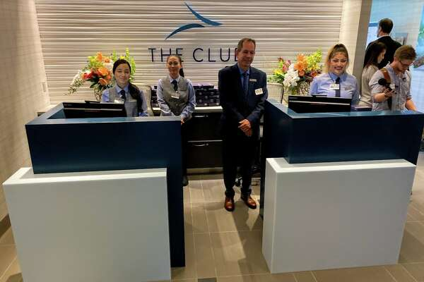 Entry into the Club SJC near gate A8 at San Jose Airport