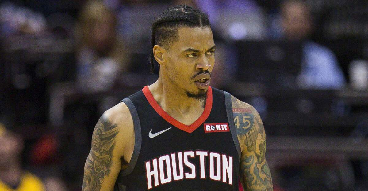 PHOTOS: Rockets' annual open practice Houston Rockets guard Gerald Green (14) reacts after hitting a three pointer during the first half of an NBA basketball game between the Houston Rockets and Utah Jazz, Wednesday, Oct. 24, 2018 in Houston.