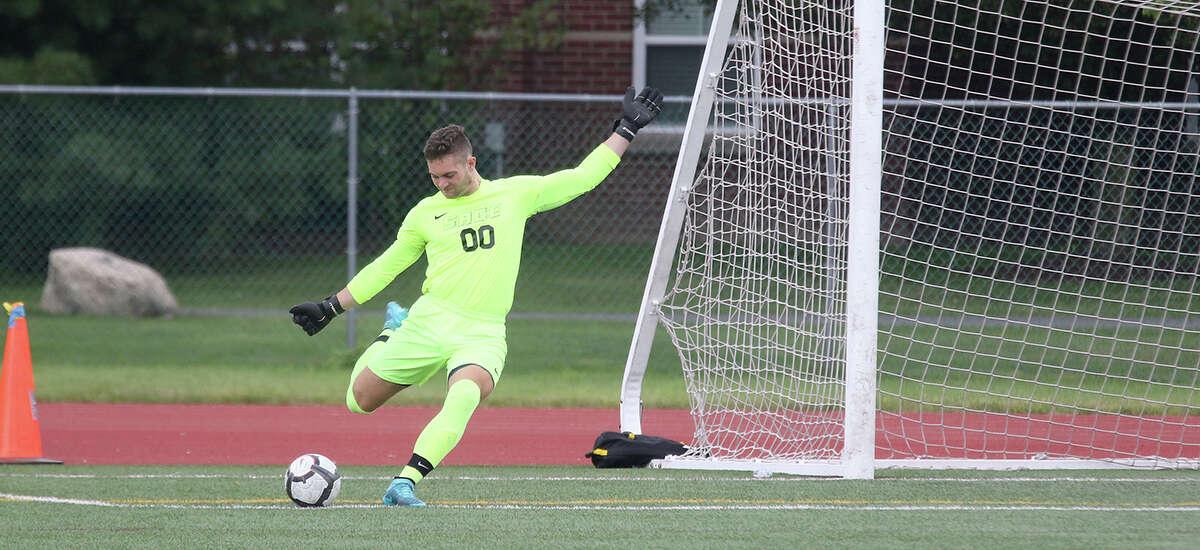 Maple Hill graduate Lucas Bourdeau of the Sage men's soccer team. (Courtesy of Sage Athletics)