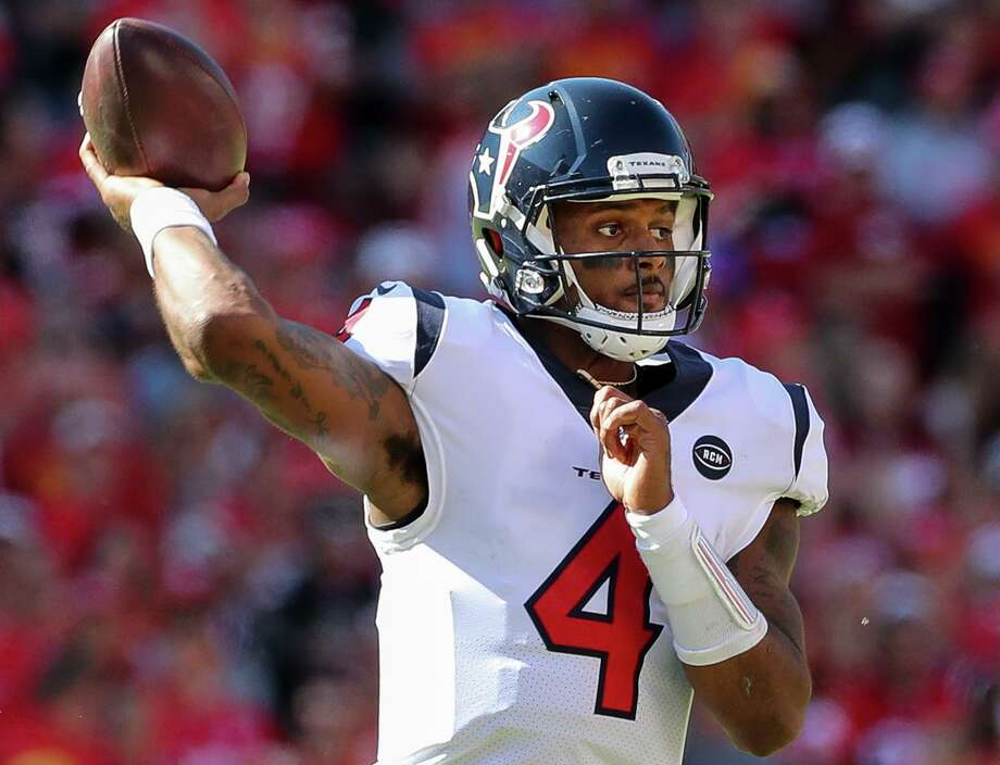 In leading the Texans to a 4-2 record, Deshaun Watson has averaged 274 yards passing per game and thrown 12 TD passes against only three interceptions. He also has rushed for 164 yards and five scores. Photo: Godofredo A. Vásquez, Houston Chronicle / Staff Photographer / © 2019 Houston Chronicle