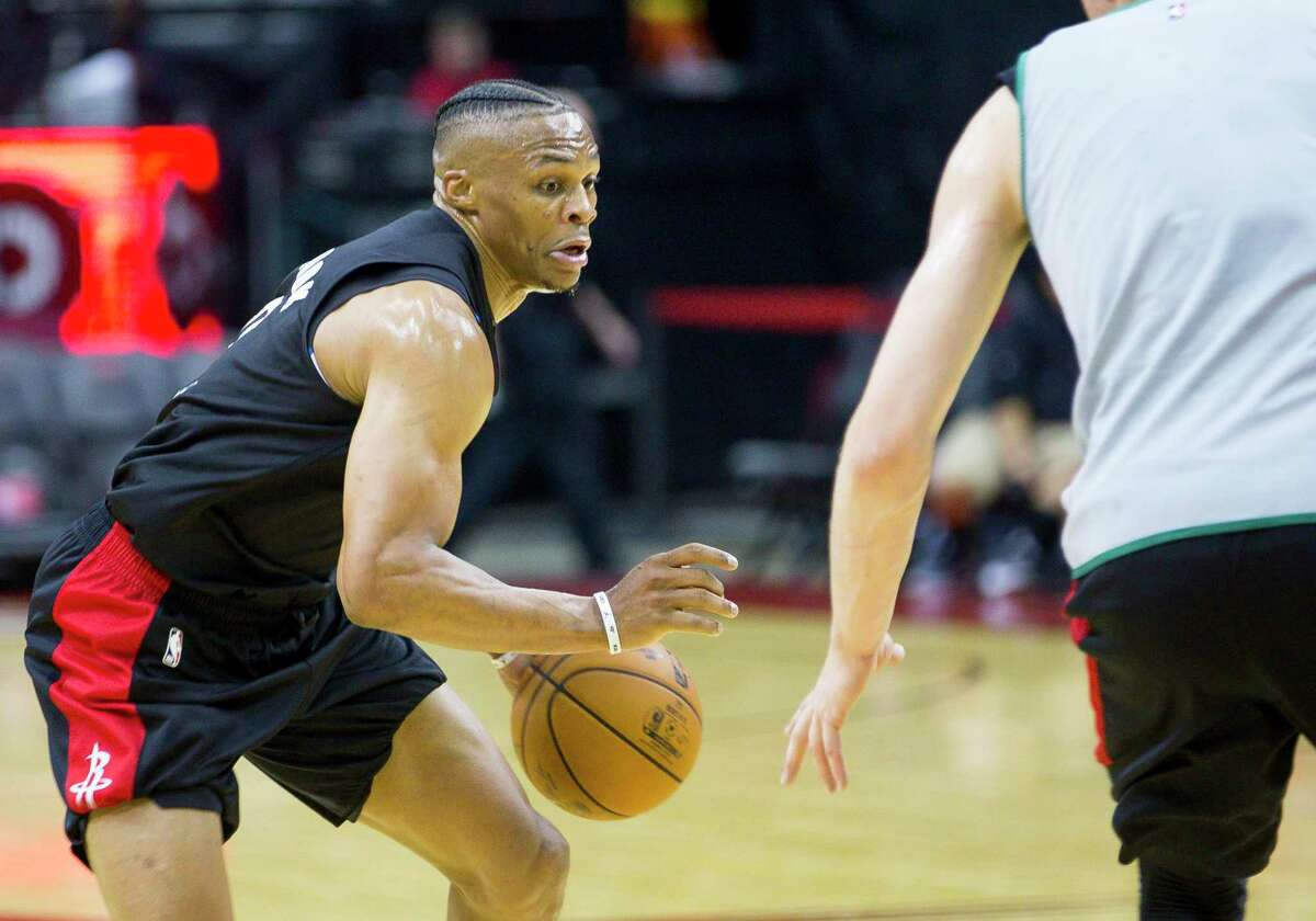 Rockets guard Russell Westbrook sees the time frame for adjustments with his new teammates as extending beyond the preseason.
