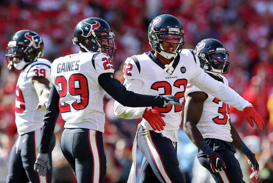 PHOTOS: John McClain's 2019 Week 7 predictions Texans cornerback Lonnie Johnson (32) celebrates after the defense forced a three-and-out against the Chiefs during the fourth quarter of Sunday's game. >>>Browse through the photos to see The General's picks for this week ... Photo: Godofredo A. Vásquez, Houston Chronicle / Staff Photographer / © 2019 Houston Chronicle