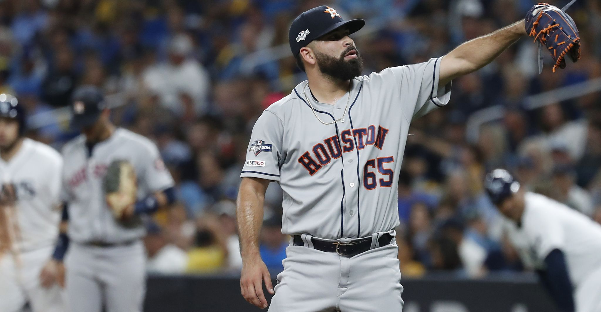 ALCS Game 4 shapes up as bullpen game for Astros, weather permitting