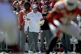Texas coach Tom Herman dropped to 1-2 against Oklahoma in the Red River Shootout after Saturday's 34-27 setback.