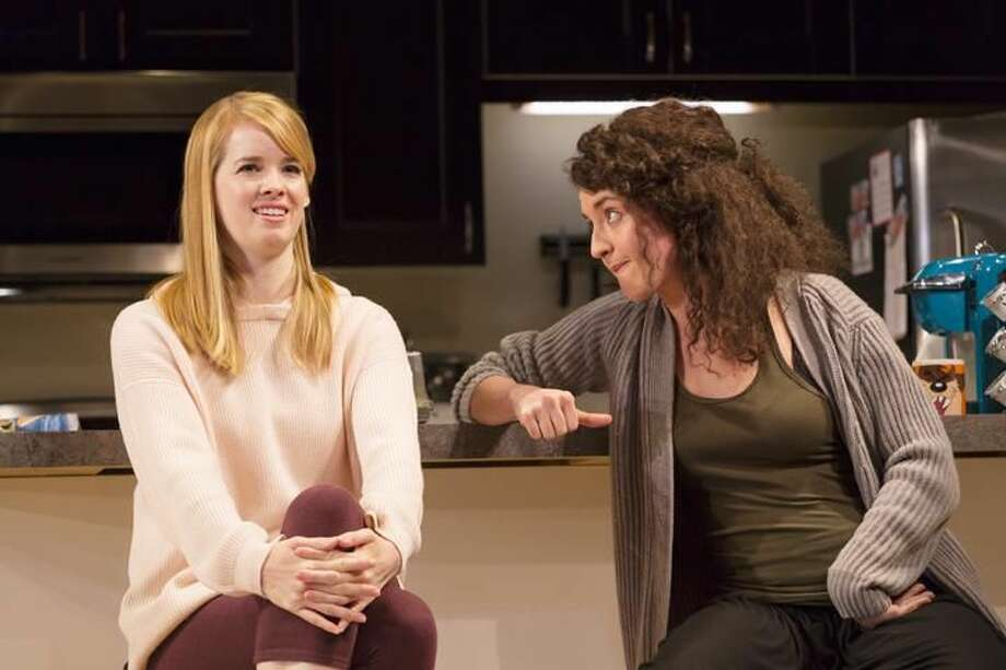 """Submitted Photo by T. Charles Erickson Photography Christy Escobar, left, and Keilly McQuail in """"Bad Jews"""" at Long Wharf Theatre."""