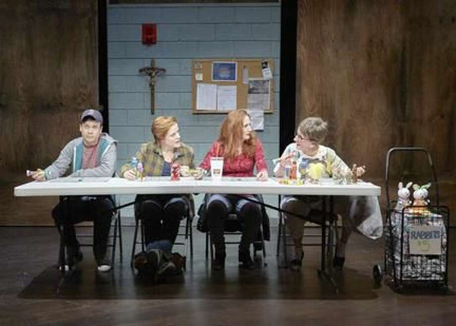 """Submitted Photo Buddy Haardt, Erika Rolfsrud, Megan Byrne, and Audrie Neenan perform in """"Good People"""" at TheaterWorks in Hartford."""