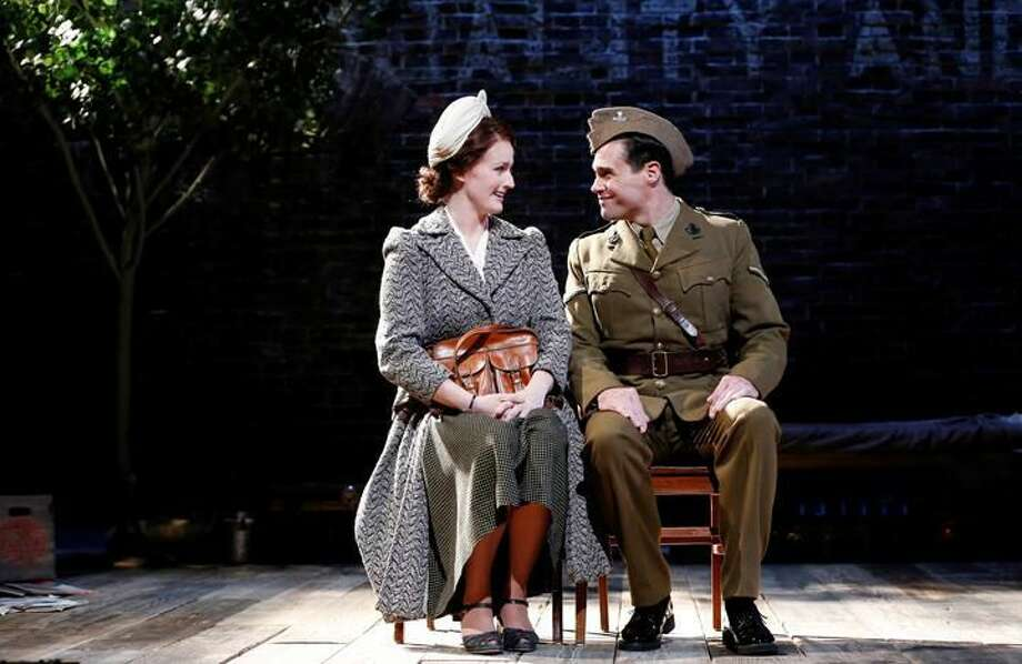 """Submitted Photo by Carol Rosegg Brenda Meaney and Matthew Greer in """"And a Nightingale Sang, written by C. P. Taylor, directed by David Kennedy, at Westport Country Playhouse, now playing through June 27. For more information call 203-227-4177 or visit www.westportplayhouse.org."""