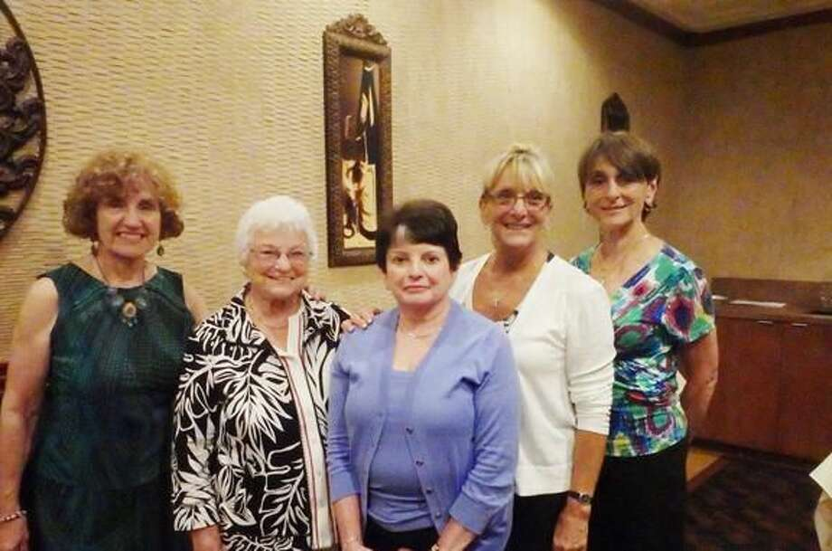 Submitted Photo From left to right are Marge Quinn, Lois Gough, Lynda O'Donnell, Cindy Golia, and Lee Fermo.