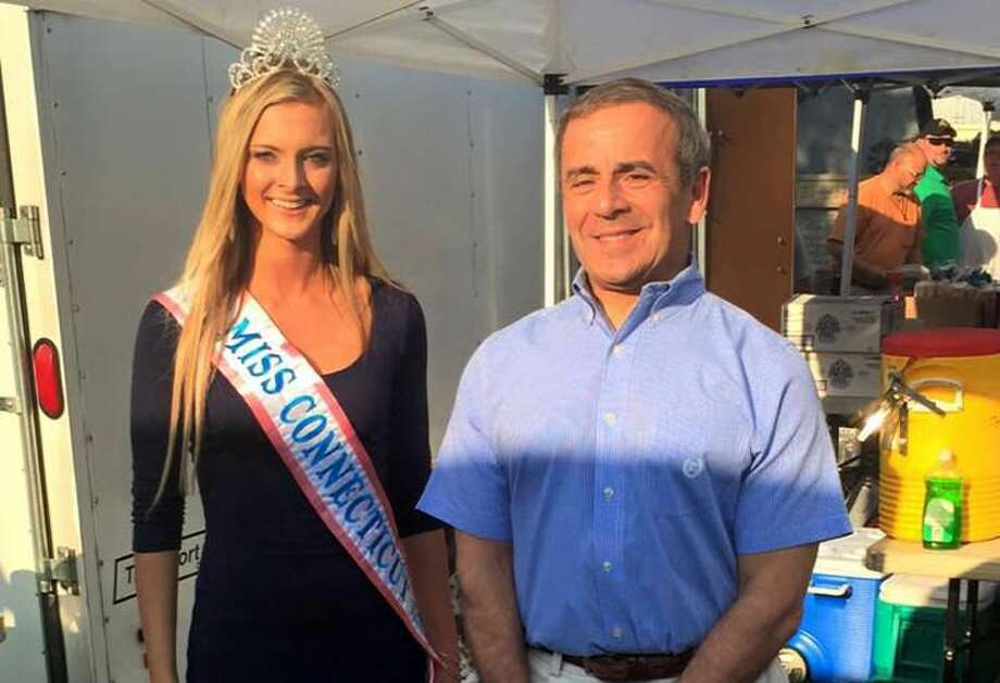 Submitted Photo Miss American Teenager Connecticut Kristina McKinney is pictured with North Haven First Selectman Mike Freda.