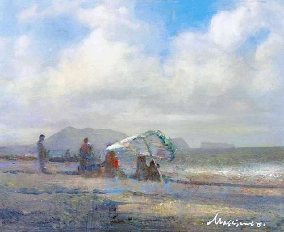 """By the Beach, Honolulu"" by John Massimino"
