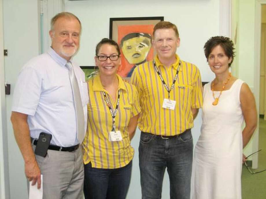 Submitted Photo From left, Dan Lyga, CEO; IKEA designer, Jessica Burke; IKEA Manager Christof Stein; Sarah Lockery, Chief Administrator of Community Services.