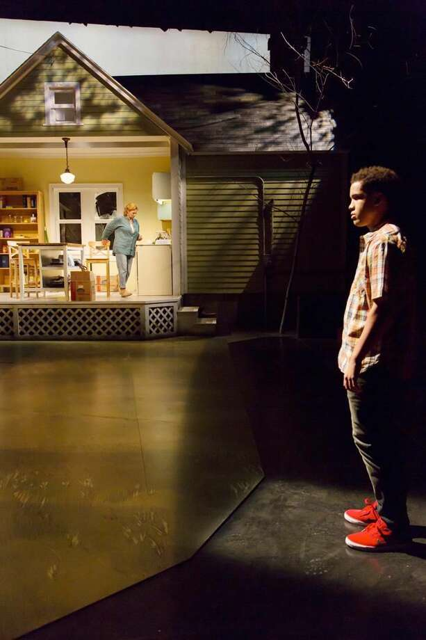 """Photo by T. Charles Erickson Hedwall appears with Brandon Smalls star in """"An Opening in Time"""" at Hartford Stage."""