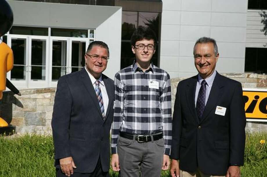 Submitted Photo From left, Chris Mills, President, North America Consumer Products - BIC USA Inc.; Andrew Gentile of Hamden; and Mario Guevara, Chief Executive Officer - BIC Corporation.