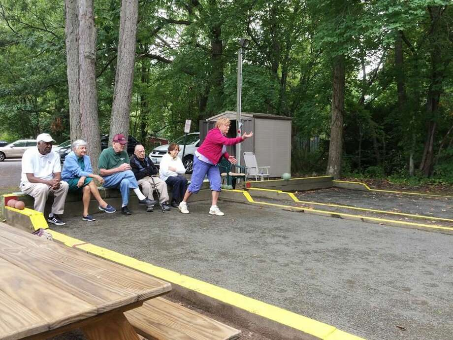 Photo by Lynn Fredricksen Several local seniors regularly enjoy a rousing game of bocce on the court behind the Joyce C. Budrow Senior Center on Pool Road. Pictured are: Bob Saulsbury, Sandra Pointek, Charlie Batterson, John Berardi, Marie Marangell and Marianne Fontana.