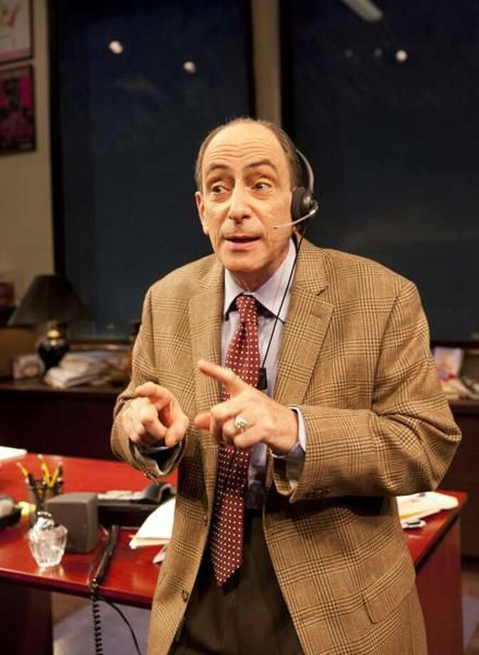 """Photo by T Charles Erickson Will LeBow in """"Mistakes Were Made"""" at Hatrford Stage."""