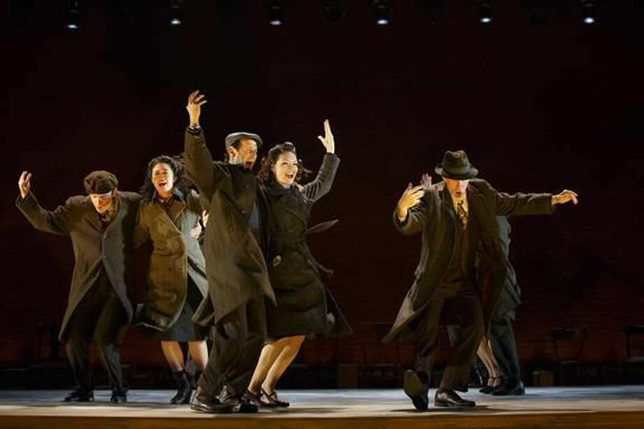 """Submitted Photo by Carol Rosegg Max Gordon Moore, Adina Verson, Richard Topol, Katrina Lenk, and Tom Nelis in """"Indecent"""" at Yale Repertory Theatre."""