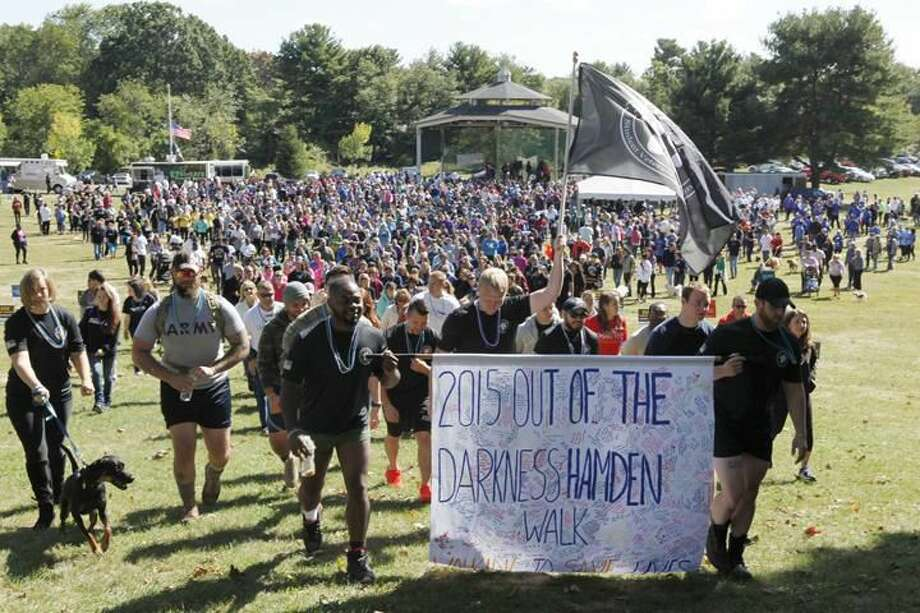 Submitted Photo Hundreds of walkers came out for the Out of the Darkness Community Walk at Hamden Town Center Park on Oct. 4. The event, which supported the American Foundation for Suicide Prevention, raised $78,000.