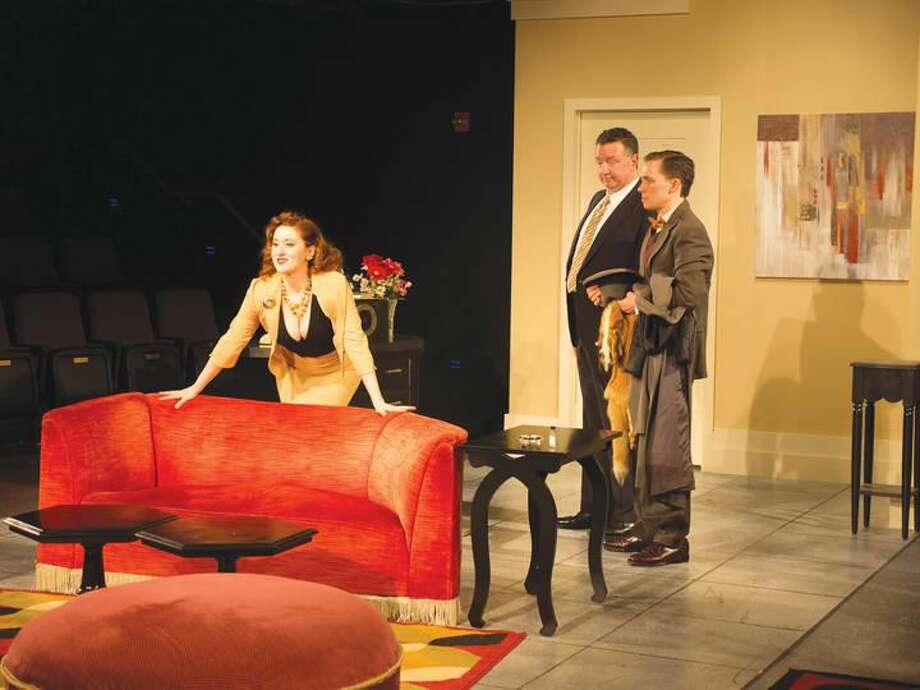 """Submitted Photo Ashley Ford, Jeff Gonzales, and Mike Boland in """"Lend Me a Tenor"""" at Playhouse on Park in West Hartford."""