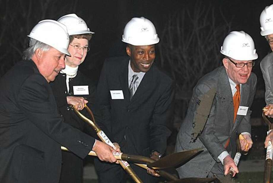 Photo by Joseph Cole Whitney Center official including President and CEO Gregory Gravel (far left) breaks ground on the new Whitney Center along with Mayor Scott Jackson.