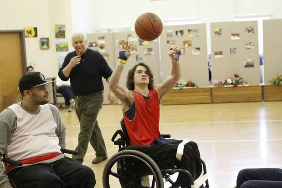 """Sheehan High's Connor Reed, better known as """"Shabazz on Wheels."""" Ray Ross — Special to the Register"""