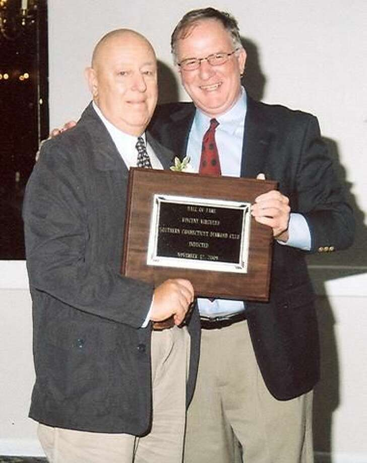 Vin Virgulto was inducted by Ned Burt. (Submitted photo)