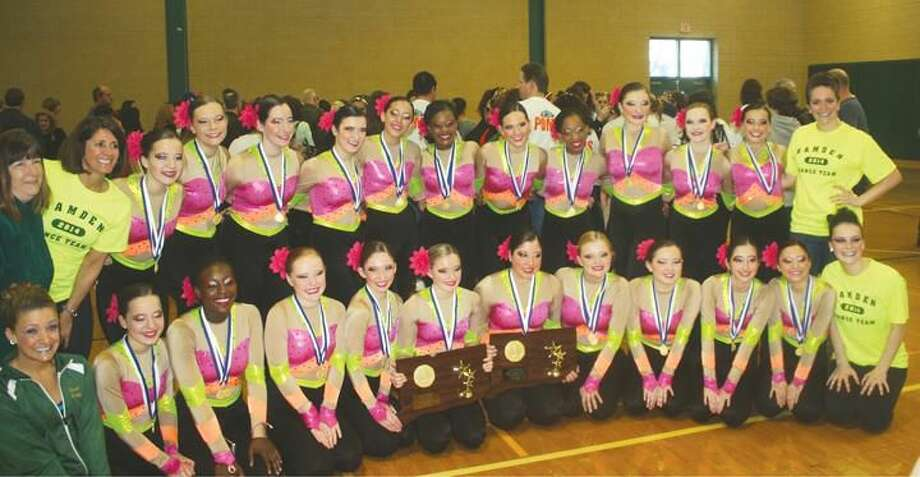 Submitted Photo Hamden High Dance Team won the 8th annual state competition recently.