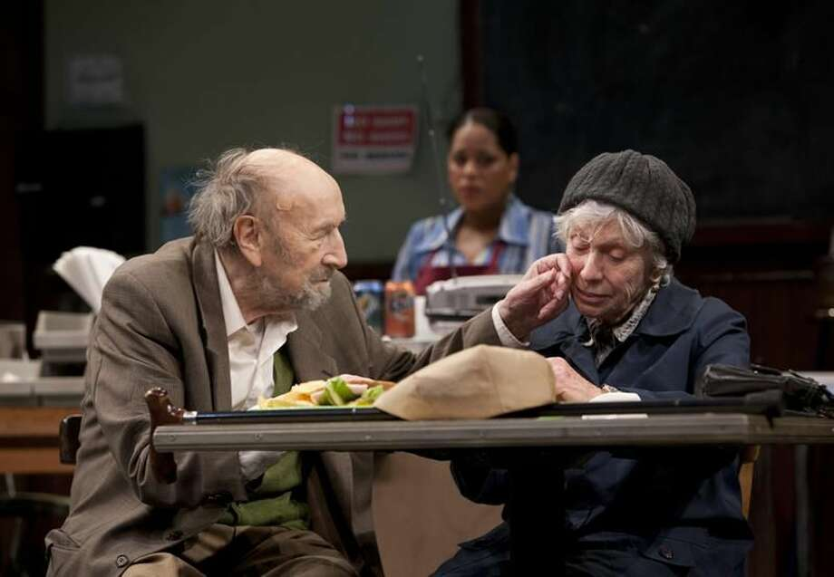 Photo by T. Charles Erickson Sol Frieder, Liza Colón-Zayas and Elaine Kussack star in 'Coming Home' at Long Wharf Theatre.