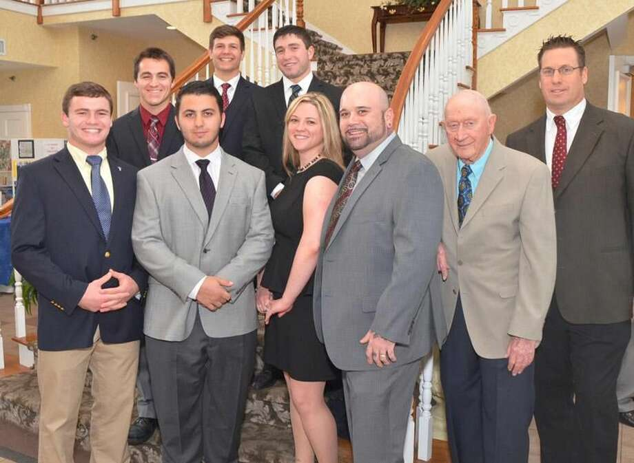 Photo by Bill O'Brien Pictured, from left to right, are (front row): Ethan Suraci, Mike Siwek, Melissa Jacques, Alphonse Jacques, Fred Kelly, Anthony Sagnella; (back row): Patrick Mikos, Alex Baglioni, and Austin Mahon.