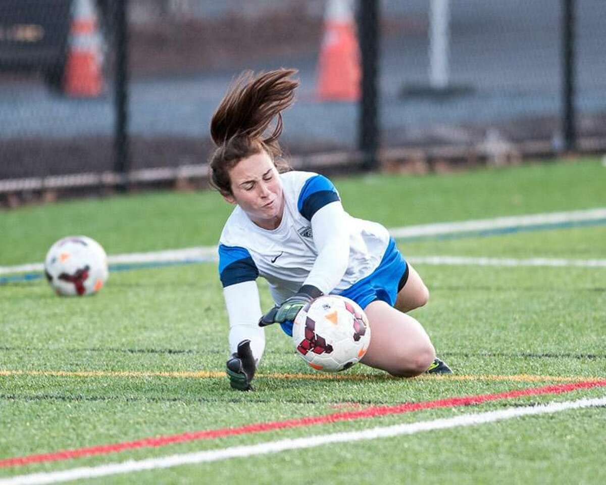 Photo courtesy of Mike Gridley/Boston Breakers Hamden's Jami Kranich knocks the ball away during a recent practice with the Boston Breakers.
