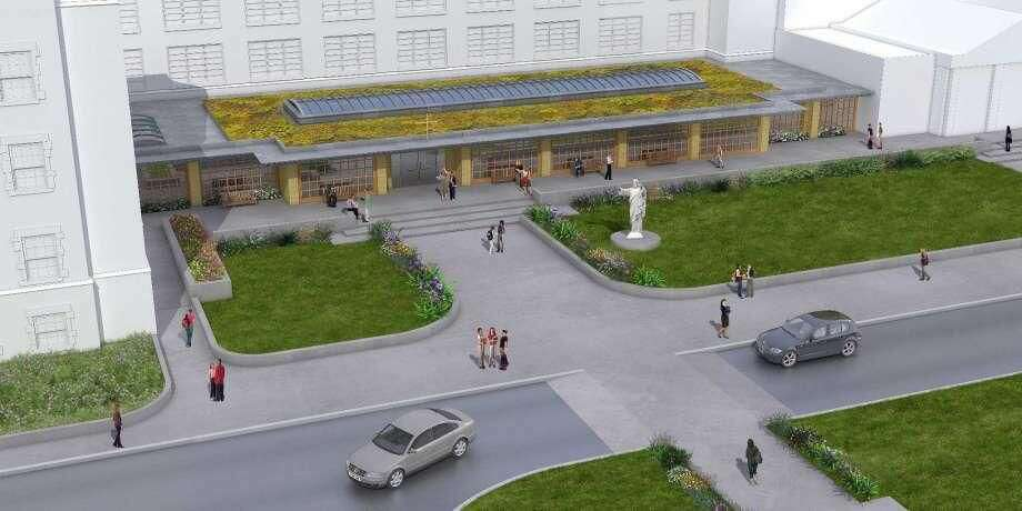A rendering of the new school center at Sacred Heart Academy in Hamden. It's phase I of the school's master plan.