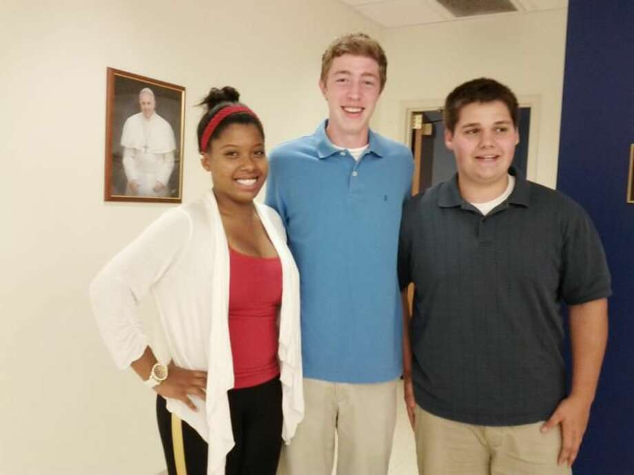 Submitted Photo Pictured are the 2014 recipients of the Paul Carr Memorial Scholarship: Sabrina Streeter, Colin Haensel and Chris Mullen (Missing from the picture is Sam Kirschenbaum).