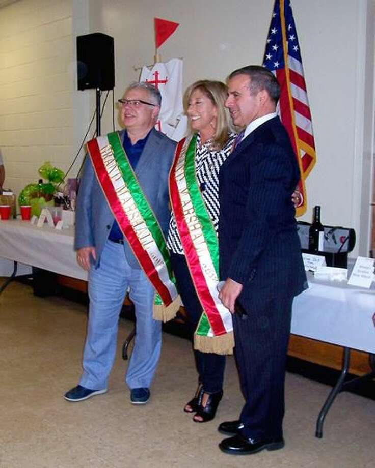 Submitted Photo Pictured are Grand Marshall Luigi Nuzzolillo and Grand Marshall Phyllis T. Havens along with First Selectman Michael J. Freda.