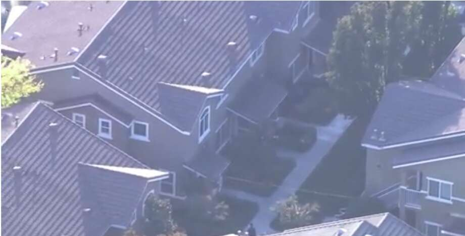 An aerial shot of the crime scene. Photo: KCRA