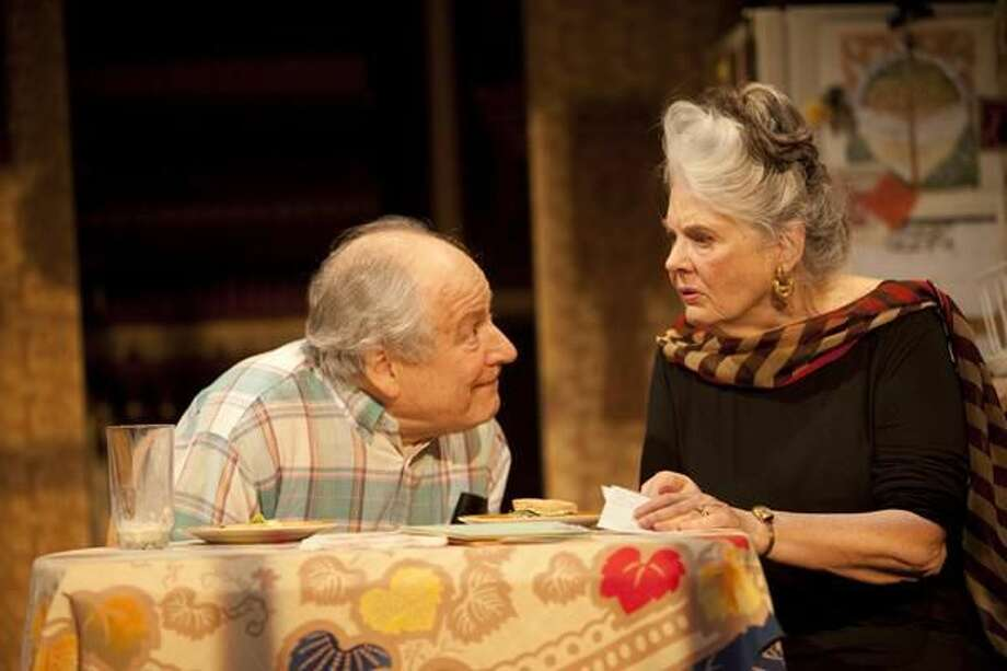Photo by T. Charles Erickson David Margulies and Lois Smith perform in the world premiere of 'Lil's 90th,' at Long Wharf Theatre in New Haven.