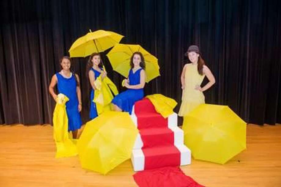 """Submitted Photo by Cheryl Cronin, Cronin Photography Starring in the upcoming November musical """"Singin' in the Rain"""" are, left to right, Sacred Heart Academy students Andrea Sanchez of Wallingford, Lauren Celentano of Cheshire, Rose Iannacone of North Haven, and Kayla Hansen of West Haven."""