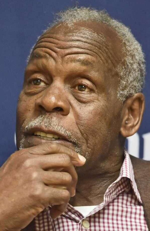 Actor and activist Danny Glover is seen during a news conference before speaking at Quinnipiac University in Hamden.