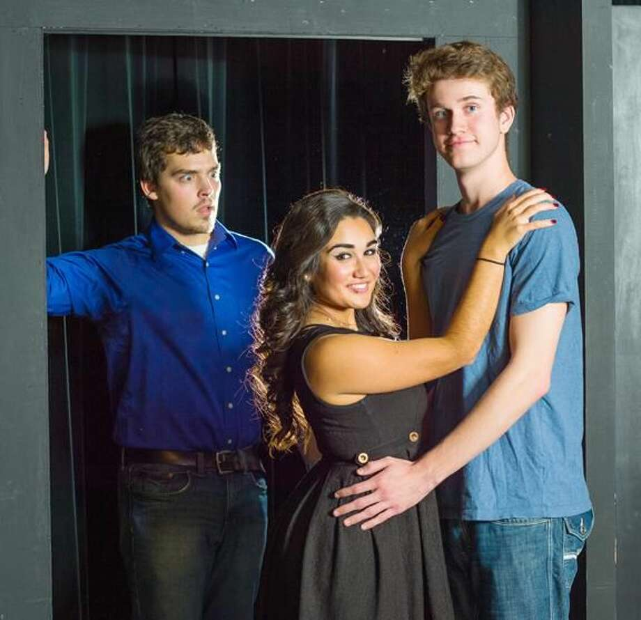 """Submitted Photo Quinnipiac University students Gerard Lisella, left, Christina Comizio, Ryan Sheehan will play the leads in the Theater for Community production of """"Arms and the Man,"""" Nov. 13-16 in the Clarice L. Buckman Theater on the Mount Carmel Campus at Quinnipiac."""