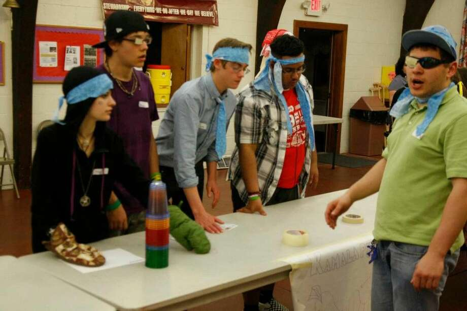 Students participating in last year's 'famine' event. (Contributed photo)