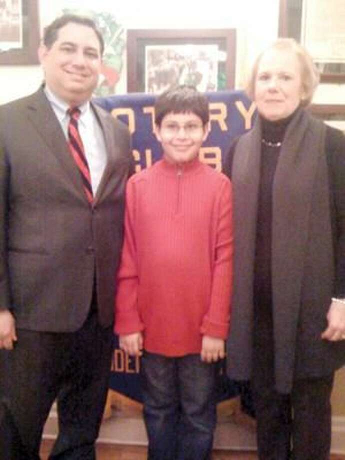 Submitted Photo The Rotary Club of Hamden named Panth Doshi its Student of the Month for March 2010. Panth is shown here with his teacher, Marcia Proto, and school principal Chris Mellillo.