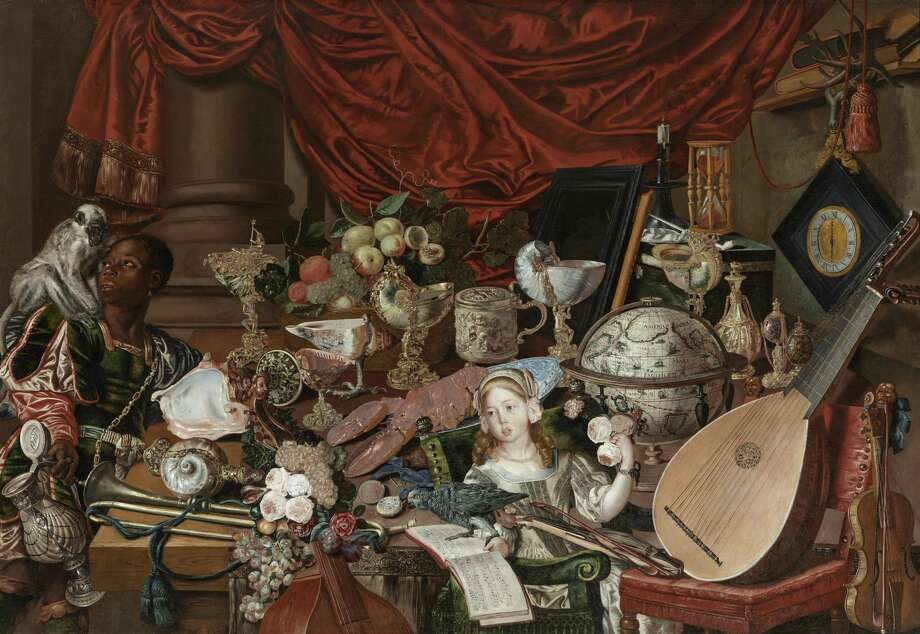 """""""The Paston Treasure,"""" a wall-sized, enigmatic painting."""