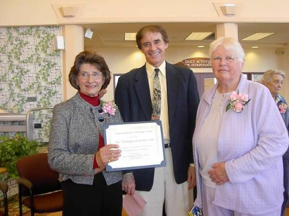 Submitted Photo Lillian Weaver, Mayor William W. Dickinson Jr., and Ellie Tessmer at the Outstanding Women of Wallingford Luncheon and Awards Ceremony.