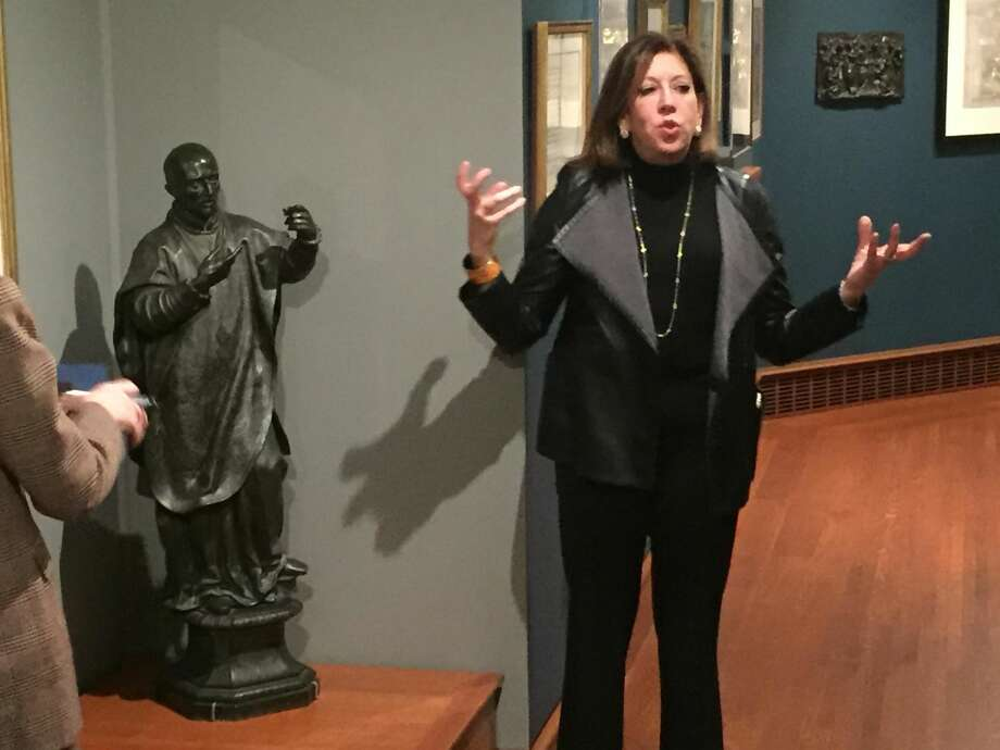 Linda Wolk-Simon at a preview of the exhibit.