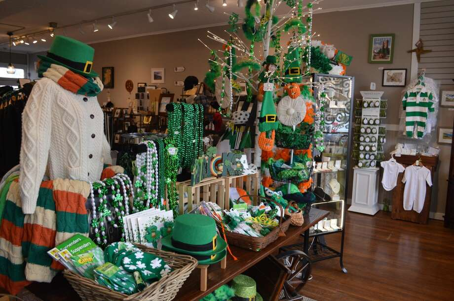 Some of the Irish goods on display at the store.