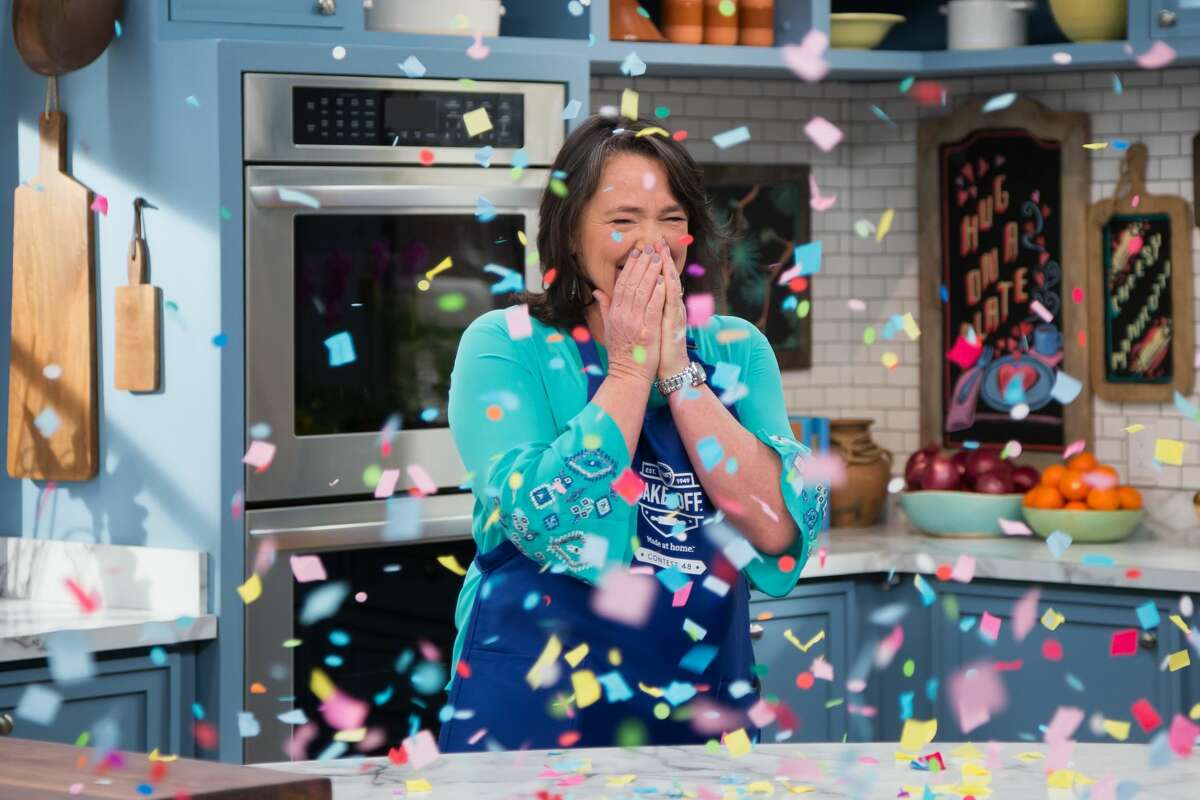 Contestant Amy Nelson reacts as she is announced the grand prize winner as seen on The Kitchen.