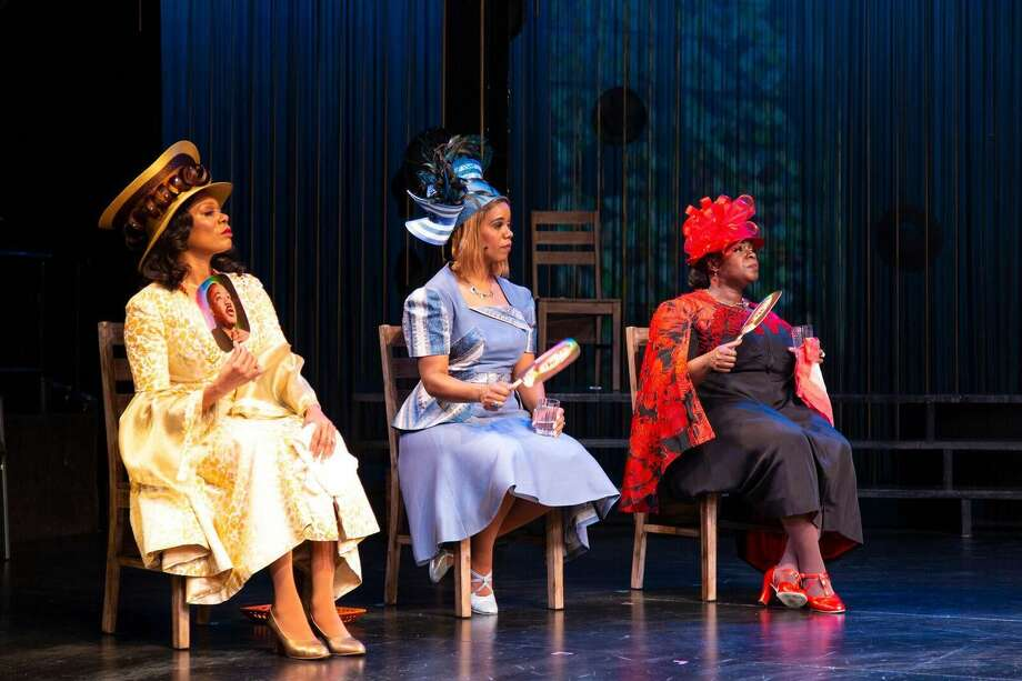 "Stephanie Pope, Rebecca Covington and Danielle K. Thomas in ""Crowns."""