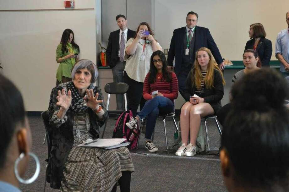 U.S. Rep. Rosa DeLauro, D-3, visiting Hamden High School to discuss gun violence prevention with students.