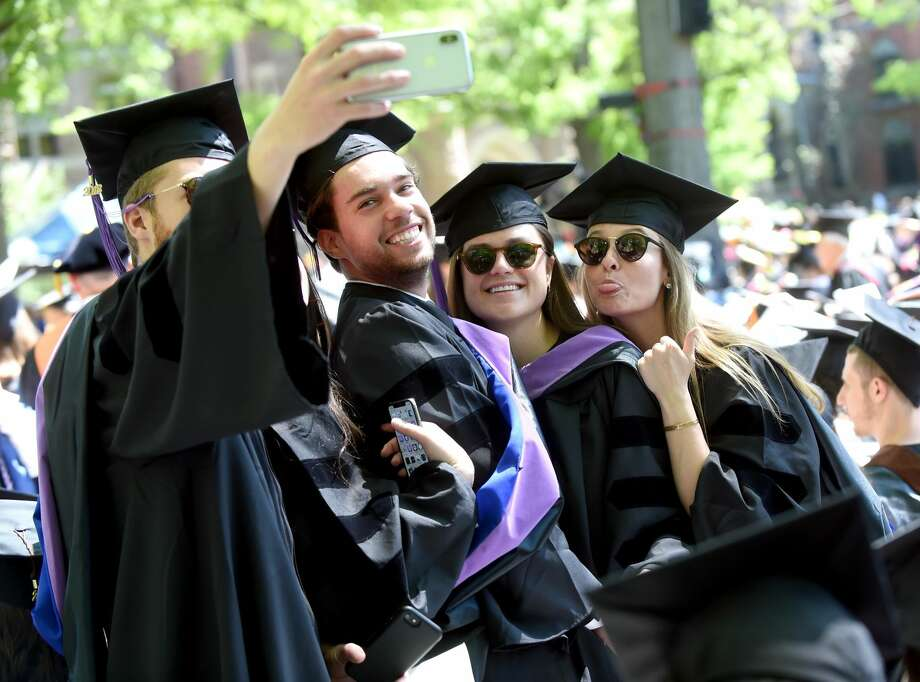 The three hundred seventeenth Yale University Commencement in New Haven on May 21, 2018 featuring Neil deGrasse Tyson and Angela Bassett receiving honorary degrees.